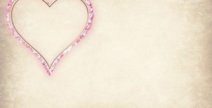 Valentines Day inimă pe fundal alb