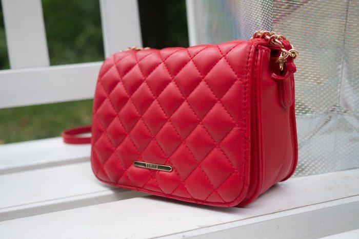 geanta de umar de culoare rosie din piele naturala