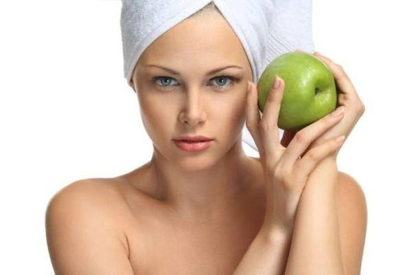 masca de fata cu mere