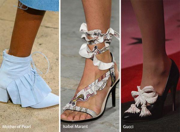 sandale cu volane si funde