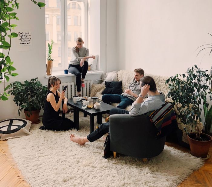 Idei amenajare garsonieră, zona de living room